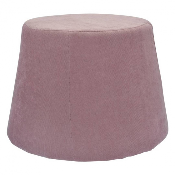 poef 45 x 37 cm fluweel/polyurethaan roze
