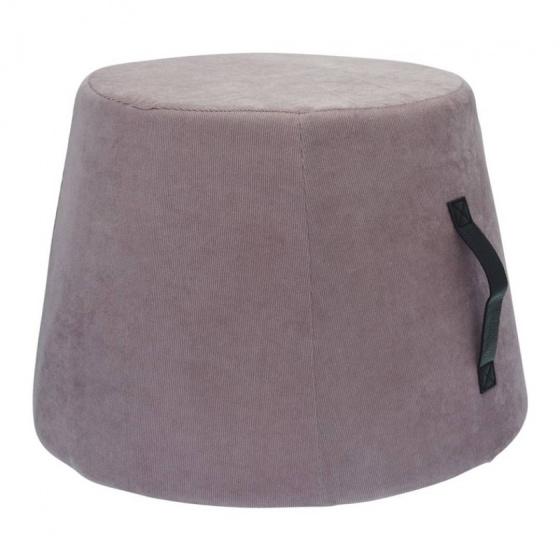 poef 45 x 37 cm polyurethaan/fluweel grijs