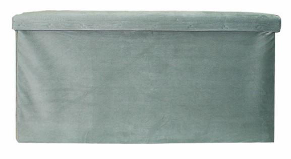 poef opvouwbaar 76 x 38 x 38 cm fluweel grijs