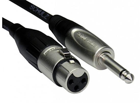 XLR S100 microfoonkabel (6,3 mm S8 jack) 6 meter