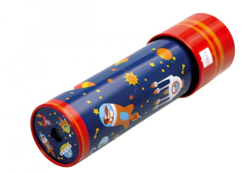 caleidoscoop 18 cm metaal blauw
