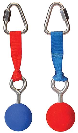 ninja-ballen voor de ninja-line 2 stuks rood/blauw