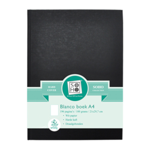 dummyboek Blanco A4 21 x 29,7 cm papier zwart