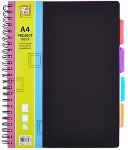 projectboek 23-rings 21 x 29,7 cm A4 zwart