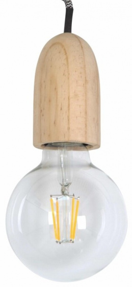 decoratieve lamp 8 cm E27 glas bruin/zwart/wit