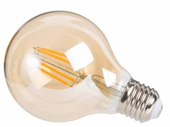 decoratieve led-lamp 4W 12 cm glas roestbruin