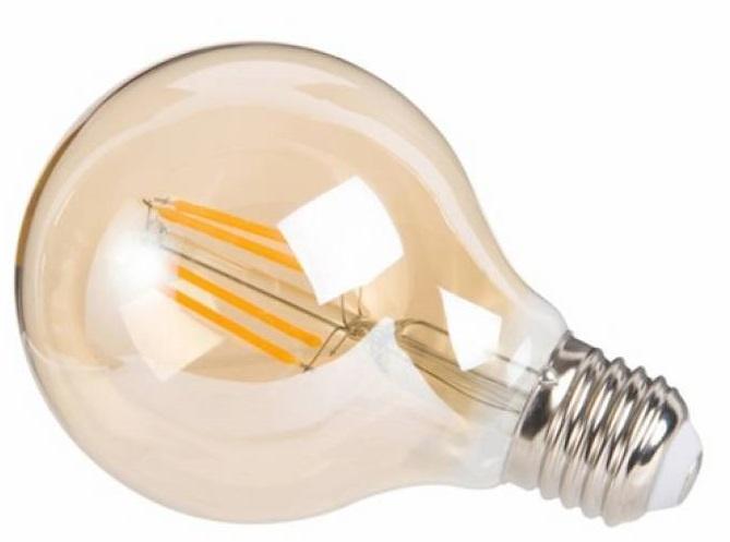 decoratieve led-lamp 4W 14 cm glas roestbruin