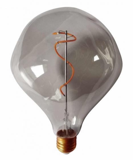 decoratieve led-lamp 4W 17,5 cm glas donkergrijs