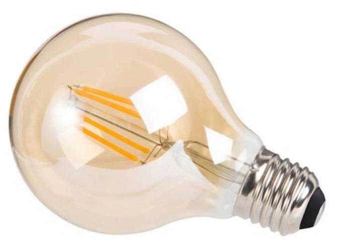 decoratieve led-lamp 4W 17,5 cm glas roestbruin