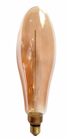 decoratieve led-lamp 4W 21 cm glas roestbruin