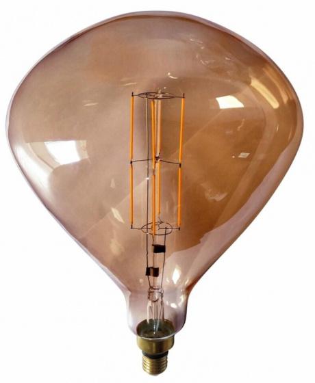 decoratieve led-lamp 4W 43 cm glas roestbruin