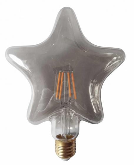 decoratieve led-lamp 4W ster 16,5 cm glas grijs