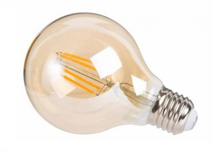 decoratieve led-lamp Amber 4W 12 cm glas warm wit