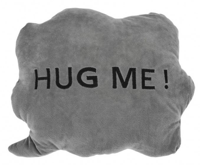 kussen HUG ME! wolk 35 x 30 x 10 cm pluche grijs