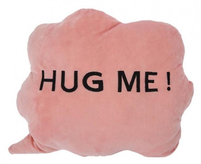 kussen HUG ME! wolk 35 x 30 x 10 cm pluche roze