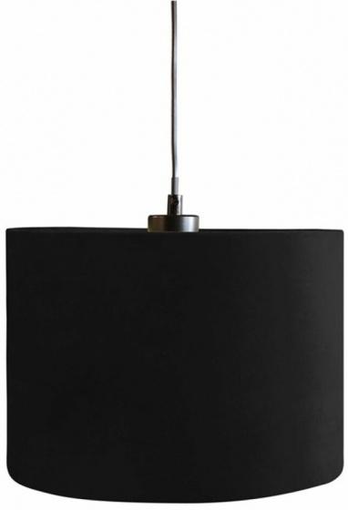 lampenkap hangend Black Velvet 28 cm textiel zwart