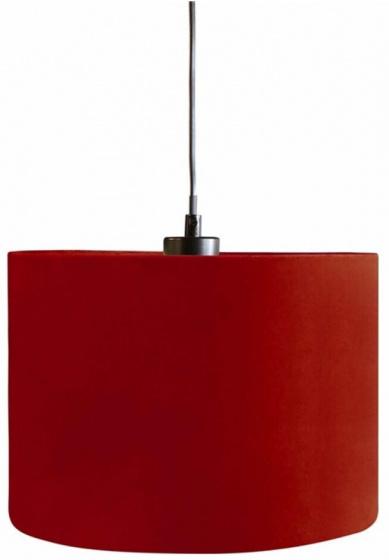 lampenkap hangend 28 cm textiel donkerrood