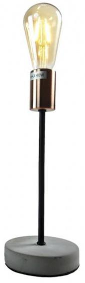 tafellamp met ledlamp 43 cm steen/koper grijs/koper