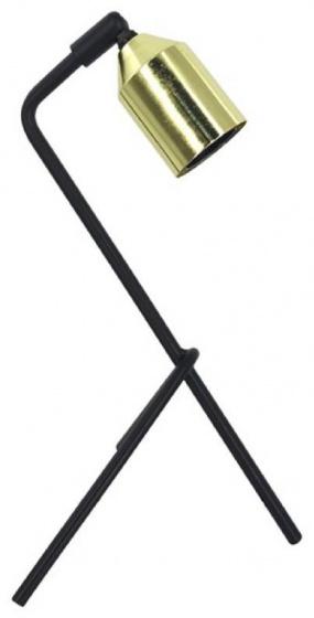tafellamp 18 x 33,5 cm staal/messing zwart/goud