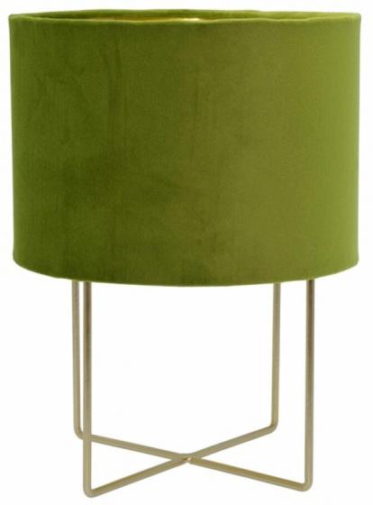 tafellamp 24 x 32 cm fluweel/messing groen/goud