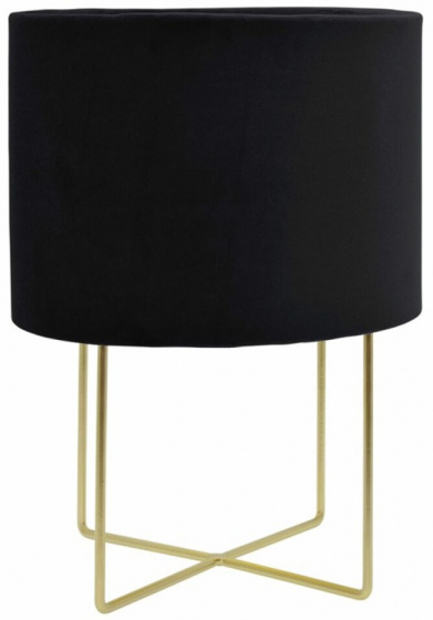 tafellamp 24 x 32 cm fluweel/messing zwart/goud