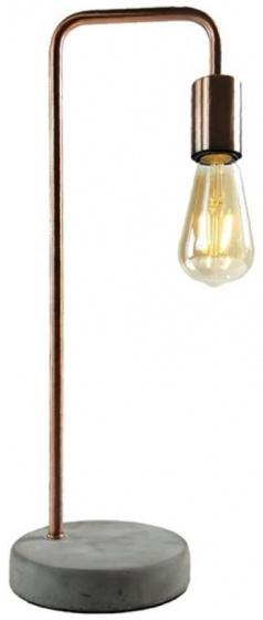 leeslamp met ledlamp 48 cm steen/koper grijs/koper
