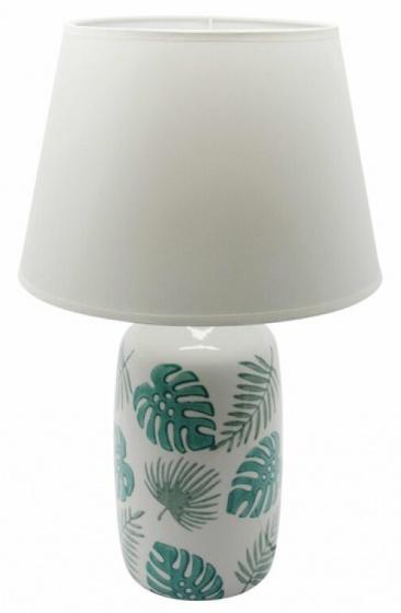 tafellamp Tropical Jungle 49,5 cm keramiek wit/groen