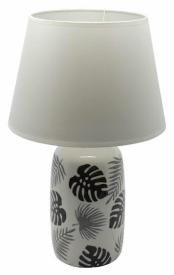 tafellamp Tropical Jungle 49,5 cm keramiek wit/zwart