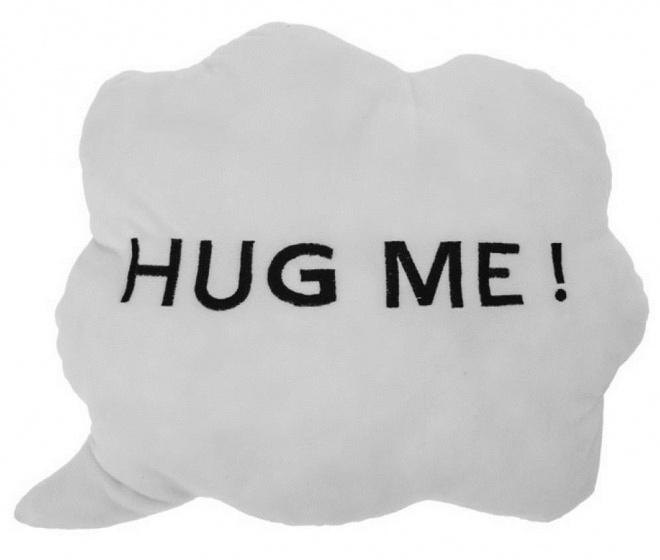 wolkenkussen Hug Me! 35 x 30 x 10 cm pluche wit