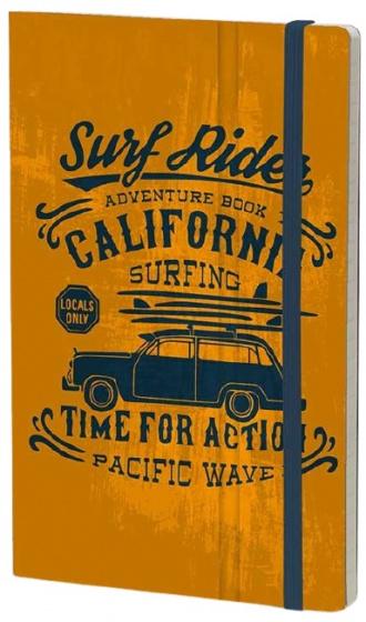 notitieboek Adventure 21 x 13 cm karton/papier oranje