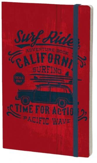 notitieboek Adventure 21 x 13 cm karton/papier rood