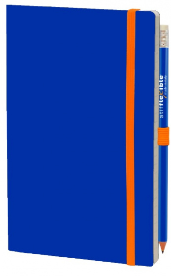 notitieboek Basic 21 x 13 cm karton/papier blauw 2-delig