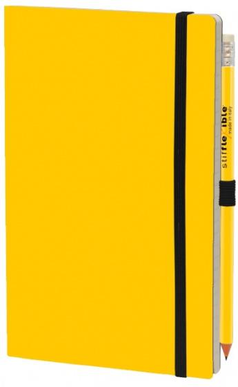 notitieboek Basic 21 x 13 cm karton/papier geel 2-delig