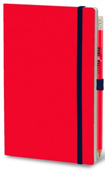 notitieboek Basic 21 x 13 cm karton/papier rood 2-delig