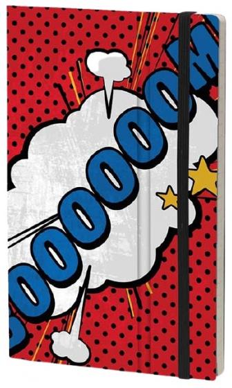 notitieboek Boooooom 21 x 13 cm karton/ivoor papier