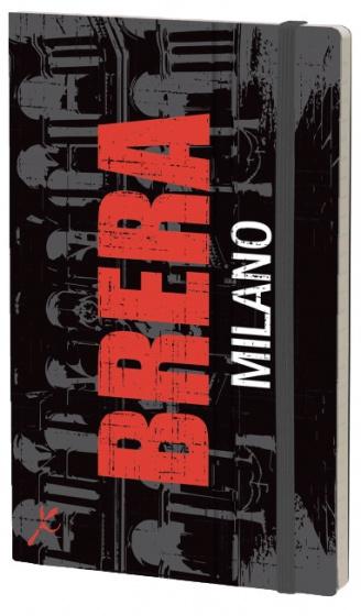 notitieboek Brera 21 x 13 cm karton/ivoor papier zwart