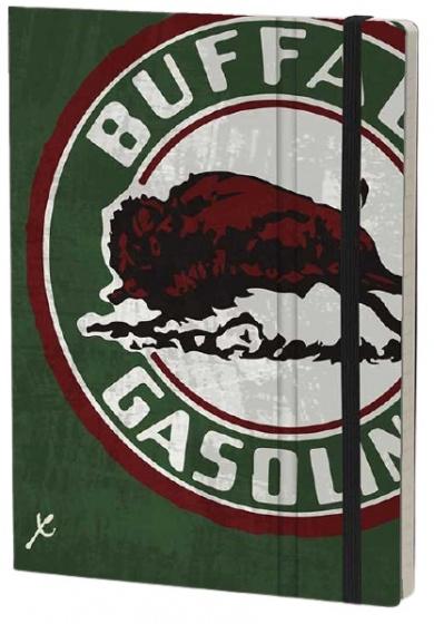 notitieboek Buffalo 21 x 15 cm karton/ivoor papier