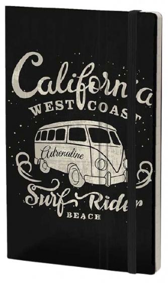 notitieboek California 21 x 13 cm karton/papier zwart