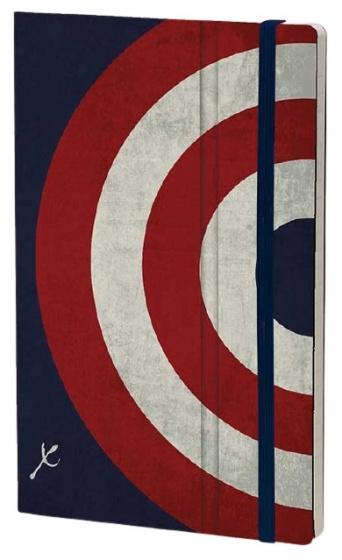 notitieboek Captain Shield 21 x 13 cm papier blauw