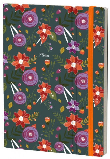 notitieboek Chrysanthemum 21 x 15 cm karton/papier