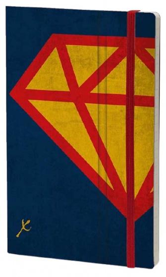 notitieboek Diamond 21 x 13 cm karton/ivoor papier
