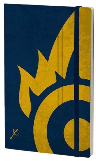 notitieboek Flame 21 x 13 cm karton/ivoor papier blauw