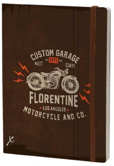 notitieboek Florentine 21 x 15 cm karton/papier bruin