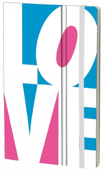 notitieboek Fluo Love 21 x 13 cm karton/papier wit