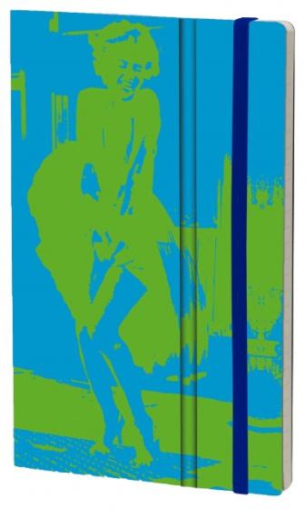 notitieboek FluoMarilyn 21 x 13 cm karton/papier blauw