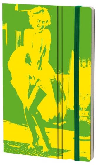 notitieboek FluoMarilyn 21 x 13 cm karton/papier groen