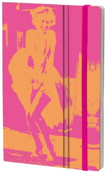 notitieboek FluoMarilyn 21 x 13 cm karton/papier roze