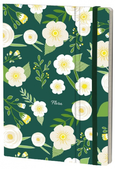 notitieboek Hellebore 21 x 15 cm karton/ivoor papier
