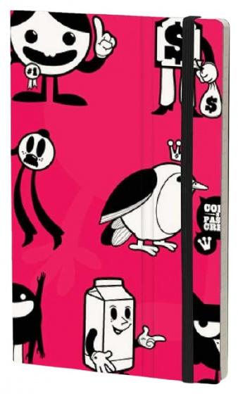 notitieboek Hello 21 x 13 cm karton/ivoor papier rood