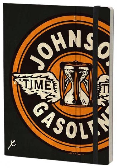 notitieboek Johnson 21 x 15 cm karton/ivoor papier